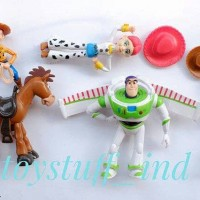 Mainan action figure anak toy story toystory isi 5 woody jessie buzz