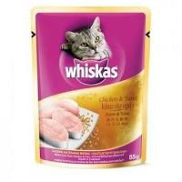 Jual WHISKAS CHICKEN & TUNA 85 G WET CAT FOOD MAKANAN KUCING BASAH Murah