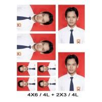 Harga cetak foto pas photo ukuran 4x6 4 lembar dan 2x3 4 lembar | Pembandingharga.com