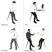 harga Portable Telescopic Chair Stand Up Leaning Seat Travel Folding Stool Tokopedia.com
