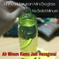 Mini bioglass 4pcs merubah air biasa menjadi air hexagonal