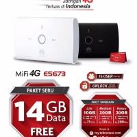MIFI HUAWEI 4G E5673 UNLOCK + TSEL 14GB