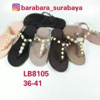 LB8105 new era sandal jepit terepes wanita cewek karet permata