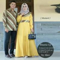 sarimbit gamis couple batik bajh couple muslim