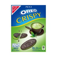 OREO Thins Crispy Matcha Green Tea Latte Snack Jepang Eksklusif Import