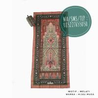 Sajadah Travel Murah Motif Melati Hijau Muda 0852-2765-5050