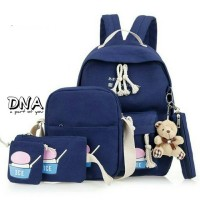 Harga tas ransel anak backpack sekolah sd laki perempuan 4in1 dna murah | antitipu.com