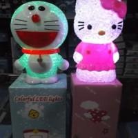 Led Colorful Light Lampu Hias Warna Warni Karakter Kitty & Doraemon
