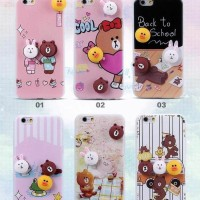 CASING CASE HP VIVO V5 V5S V5 LITE CUTE 3D LINE SOFT SILIKON BACK
