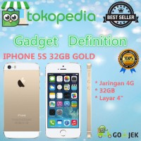 APPLE IPHONE 5S - 32GB - GOLD - 4G LTE - GARANSI PLATINUM 1THN