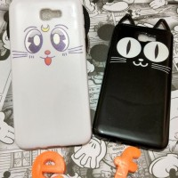 CASE CASING HP SAMSUNG GALAXY J7 PRIME 3D CUTE CUTE LUNA CAT EARS SOFT