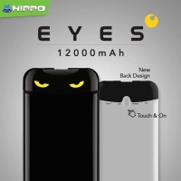 Power Bank hippo Eyes 12000 mAh With Type C Port - Sense the Touch ori