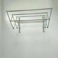 Jemuran Dinding STAINLESS 80 cm 6 Galang