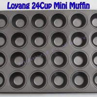 Jual Loyang Cetakan 24 Cup Mini Muffin Pan Murah