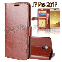 Flip Cover Samsung Galaxy J7 Pro 2017 (J730) Leather Case Wallet Card