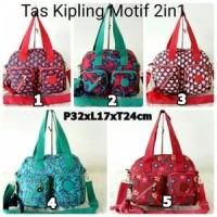Jual TAS KIPLING 2IN1 MOTIF/ SHOULDER/ SELEMPANG  IMPORT MURAH Murah