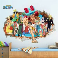 Wallpaper Wall Sticker ONE PIECE LUFFY Promo Poster Dinding Mugiwara