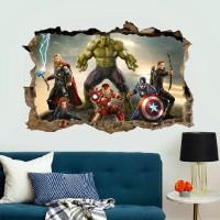 Avengers Wallsticker Wallpaper Sticker Dekorasi Dinding Thor Hulk Ant