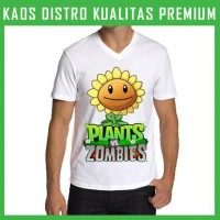 Kaos V-neck Plants Vs Zombies 3 VNK-AFL45