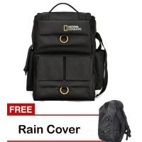 Jual Tas kamera ransel National Geographic/tas Natgeo/tas kerja Free Rainco Murah