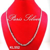 Jual Kalung Panjang Rantai Silver Perak 925 Pria Emas Putih Sisik Naga Murah