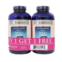 harga Buy 1 Get 1 | Wellness Omega 3 Fish Oil 1000mg 375 Softgels Tokopedia.com