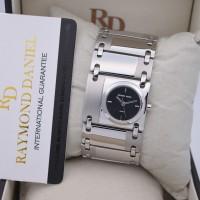 Jam Tangan Wanita Raymond Daniel RD 041 Silver Dial Black Original