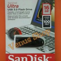 SANDISK ULTRA FLASHDISK 16GB USB 3.0 100MB/S / FLASH DISK 16GB USB 3.0