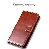 Harga murah leather flip cover wallet for xiaomi redmi 4x prime case | Pembandingharga.com