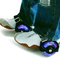 Jual Sepatu Roda Anak FLASHING ROLLER menyala saat berputar mainan sepatu Murah