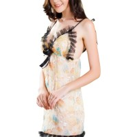 5e0c30005 L-887 Sexy Transparent Grass Flowers Lingerie Dress