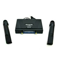 harga Aiwa Aw-500g Oem Mik Mic Mikrofon Dua Pegang Wireless Wireless Microph Tokopedia.com