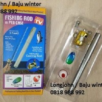 PROMO...   FISHING ROD in PEN CASE, Joran Mini / Pancingan Saku ( As