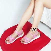 Jual Sandal Sendal Sole Double Platform Docmart Princess Tali Pink Salem Murah