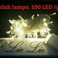 Jual lampu natal led twinkle lurus tumblr hias warm white Murah