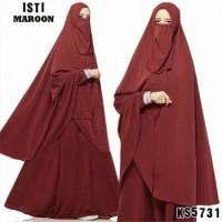 Gamis cadar / Baju gamis bercadar / Baju Muslim KS5731