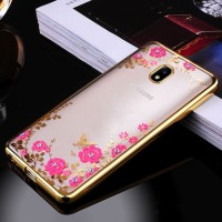 Samsung J5 J7 PRO 2017 J530 J730 soft case casing cover hp TPU FLOWER