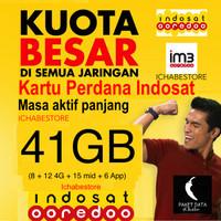 harga Kartu Perdana Indosat 41gb Data Internet Kuota (26gb 24jam+ 15gb Mid) Tokopedia.com