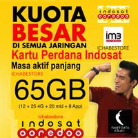 harga Kartu Perdana Internet Indosat 65gb (45gb 24jam + 20gb Mid) Tokopedia.com
