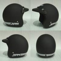 Helm Retro JPN ARC hitam doff + pet topi