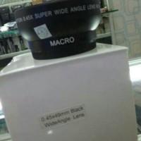 CONVERTER WIDE ANGLE UKURAN 49MM FOR NIKON DAN CANON (WHITE BOX)