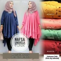 Nafsa Umbrella Tunik / Tunic / Blouse / Midi Dress / Top Hijab Kemeja