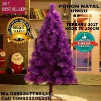 Jual pohon natal ungu 1,5meter 5Feet 5V pohon terang merry Christmas Murah
