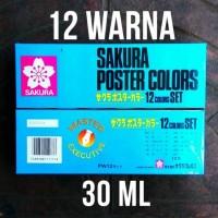 Sakura Cat Poster Set 30 mL 12 Warna / Colors JAPAN PW12 / PW-12