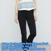 harga Celana Panjang Hitam Zara Basic Women Woman Wanita Murah Banget Sale Tokopedia.com