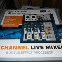 Mixer audio 4 channel usb delay profesional