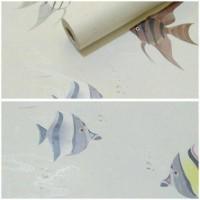 Grosir Murah Wallpaper Sticker Dinding Motif Aquarium 10Mx45Cm