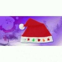 Jual Topi Santa Natal Chritmas Lampu Nyala Murah