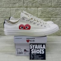 47171ee8f42e CONVERSE X COMME DES GARCONS 70 S LOW CREAM WHITE MIRROR QUALITY