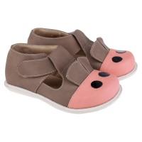 Sepatu Sandal Sapi Anak Balita Perempuan Warna Coklat M323
